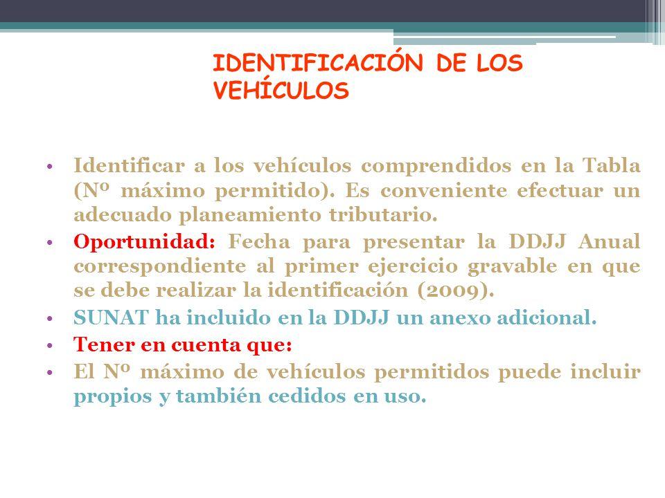 IDENTIFICACIÓN DE LOS VEHÍCULOS