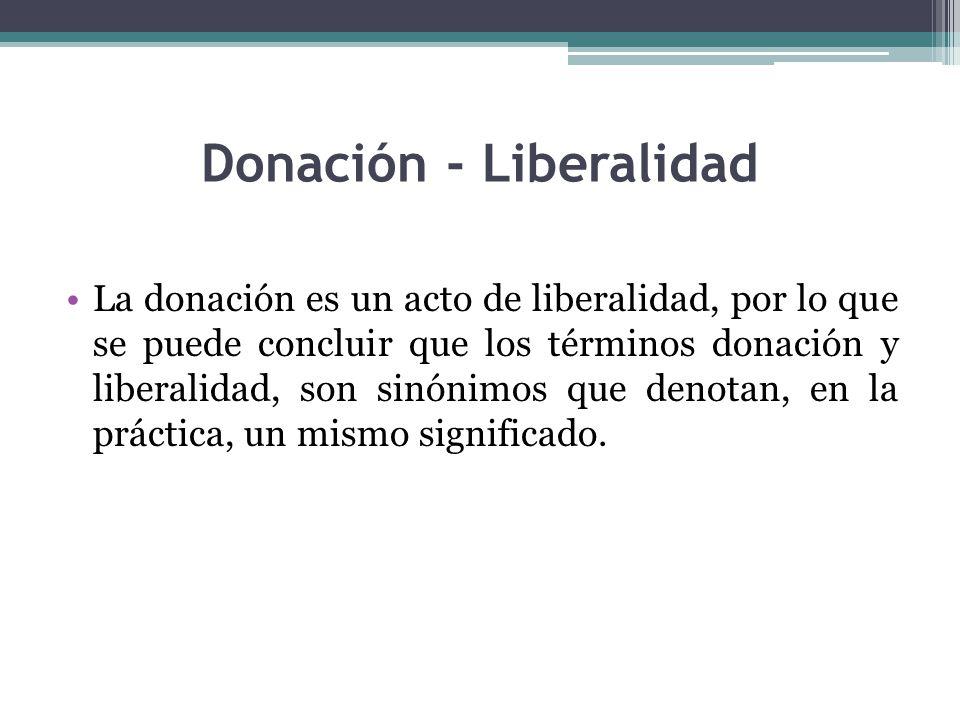 Donación - Liberalidad