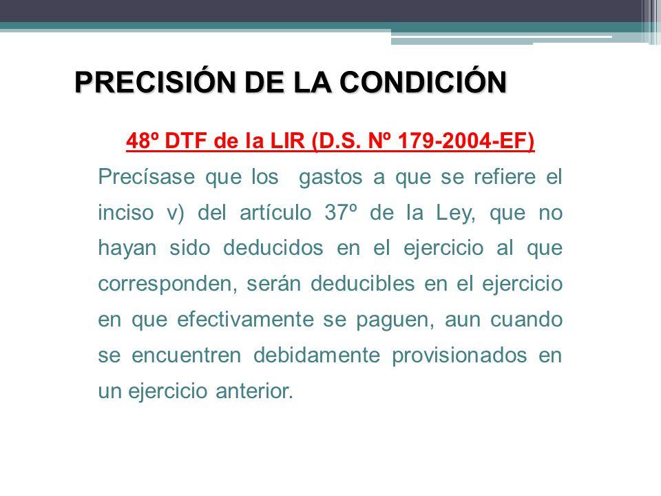48º DTF de la LIR (D.S. Nº 179-2004-EF)