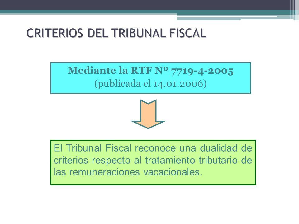 CRITERIOS DEL TRIBUNAL FISCAL