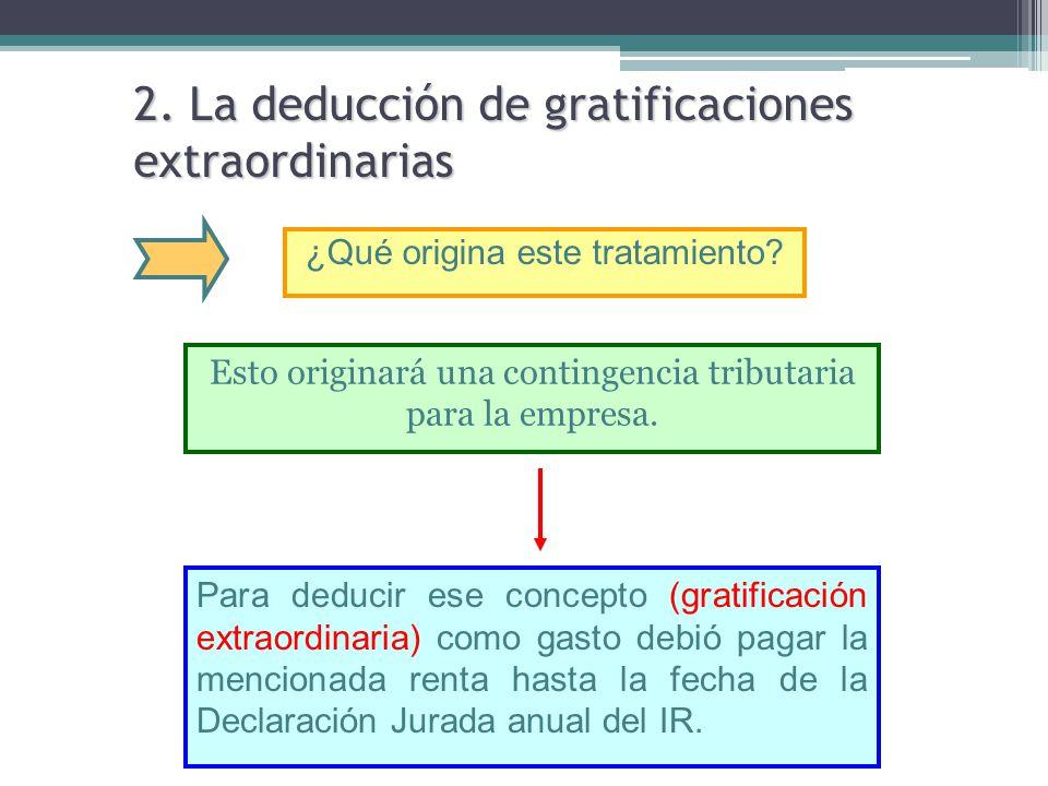 2. La deducción de gratificaciones extraordinarias