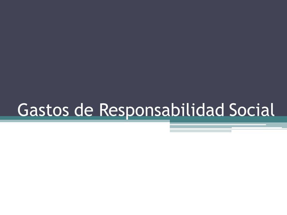 Gastos de Responsabilidad Social