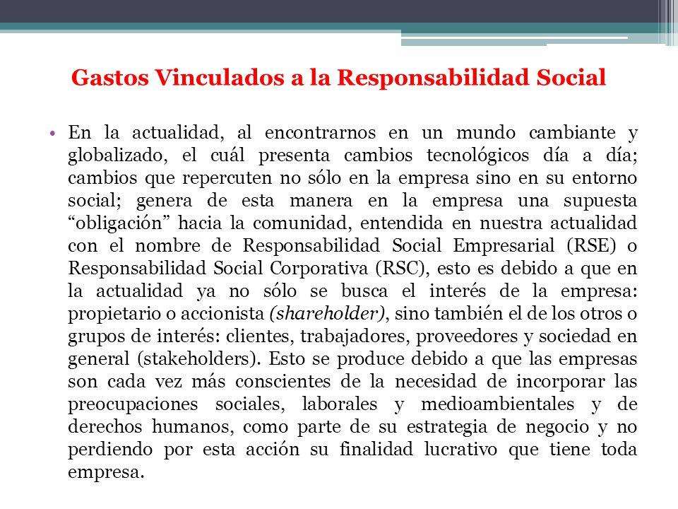 Gastos Vinculados a la Responsabilidad Social