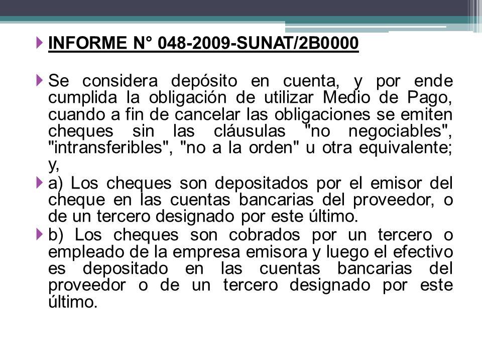 INFORME N° 048-2009-SUNAT/2B0000