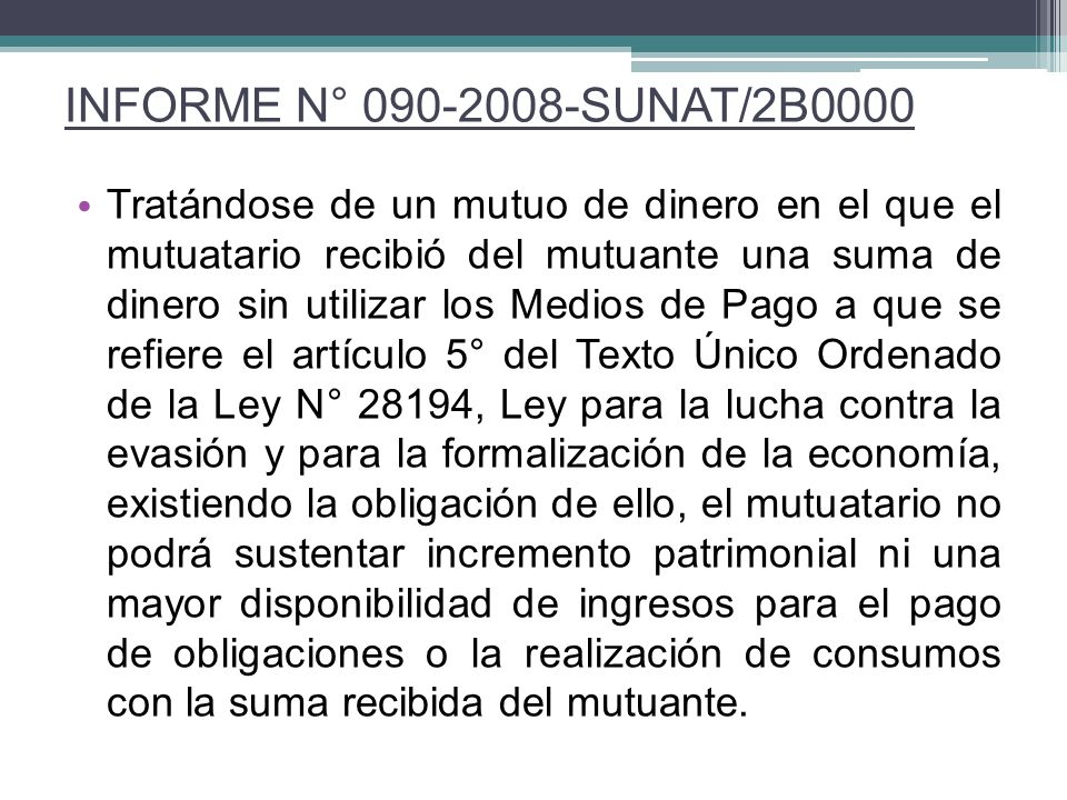 INFORME N° 090-2008-SUNAT/2B0000