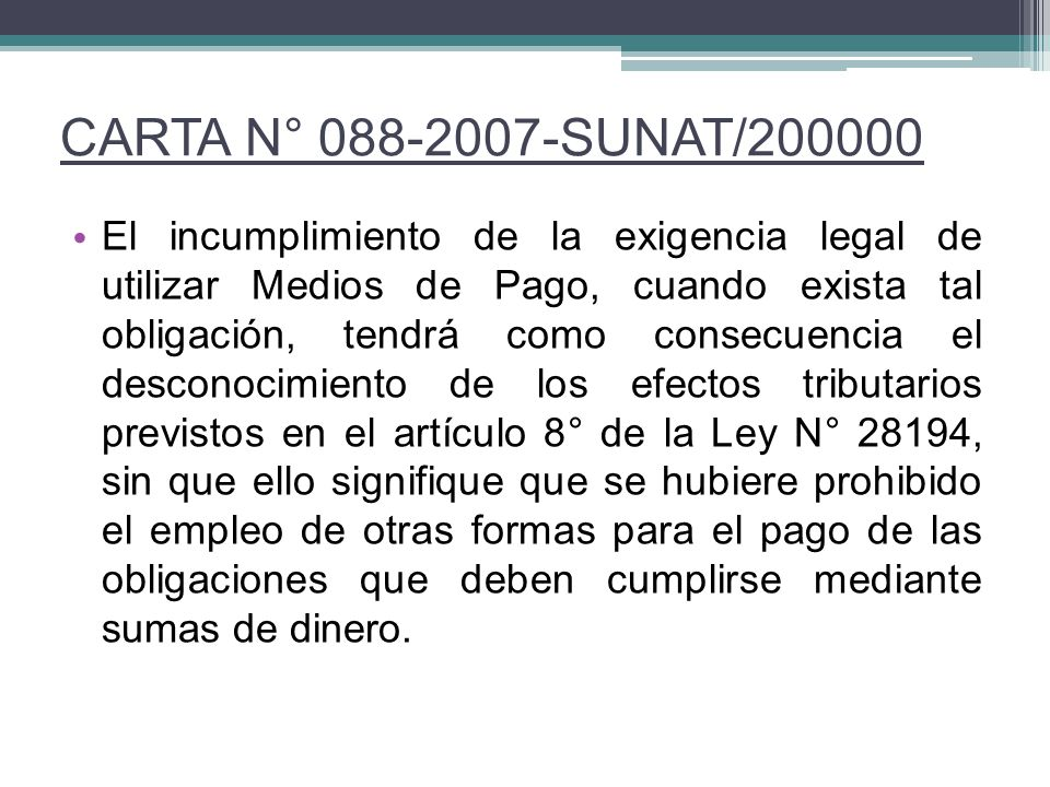 CARTA N° 088-2007-SUNAT/200000