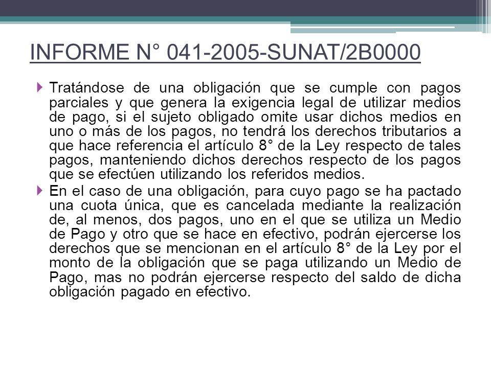 INFORME N° 041-2005-SUNAT/2B0000