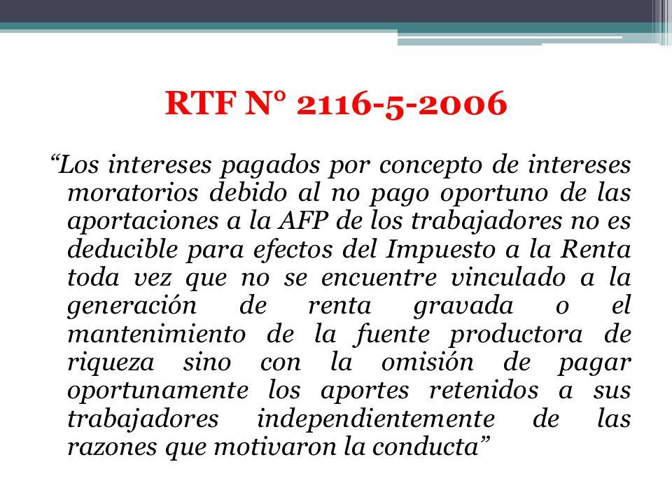 RTF N° 2116-5-2006