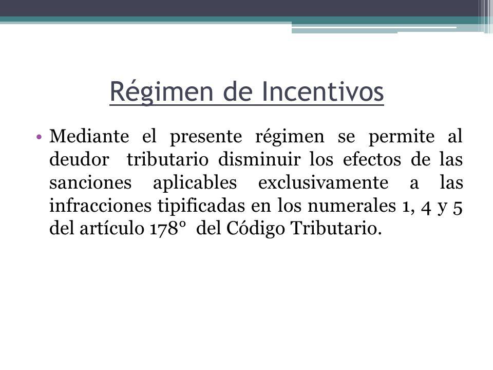 Régimen de Incentivos