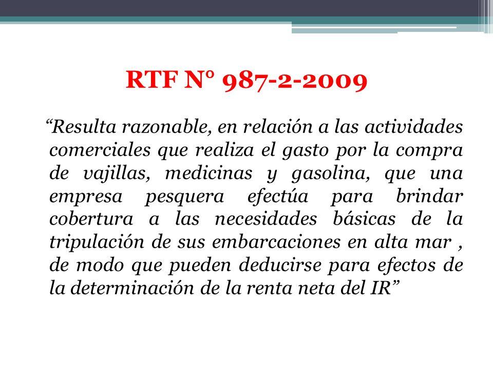 RTF N° 987-2-2009