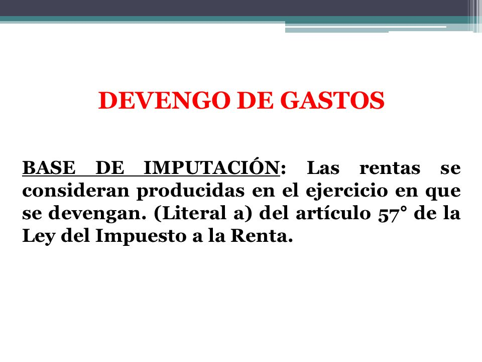 DEVENGO DE GASTOS