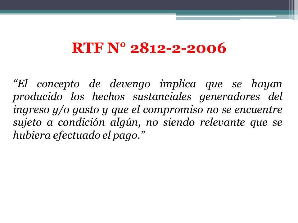 RTF N° 2812-2-2006