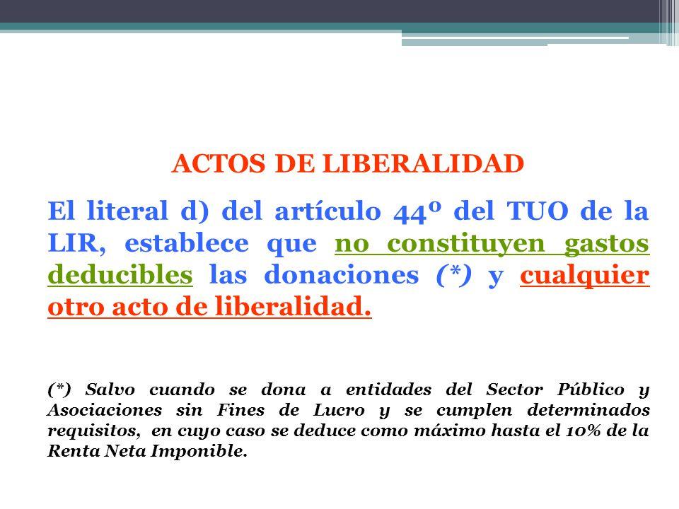 ACTOS DE LIBERALIDAD