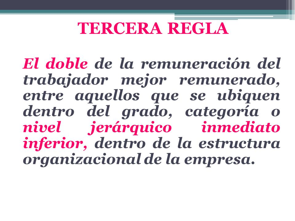 TERCERA REGLA