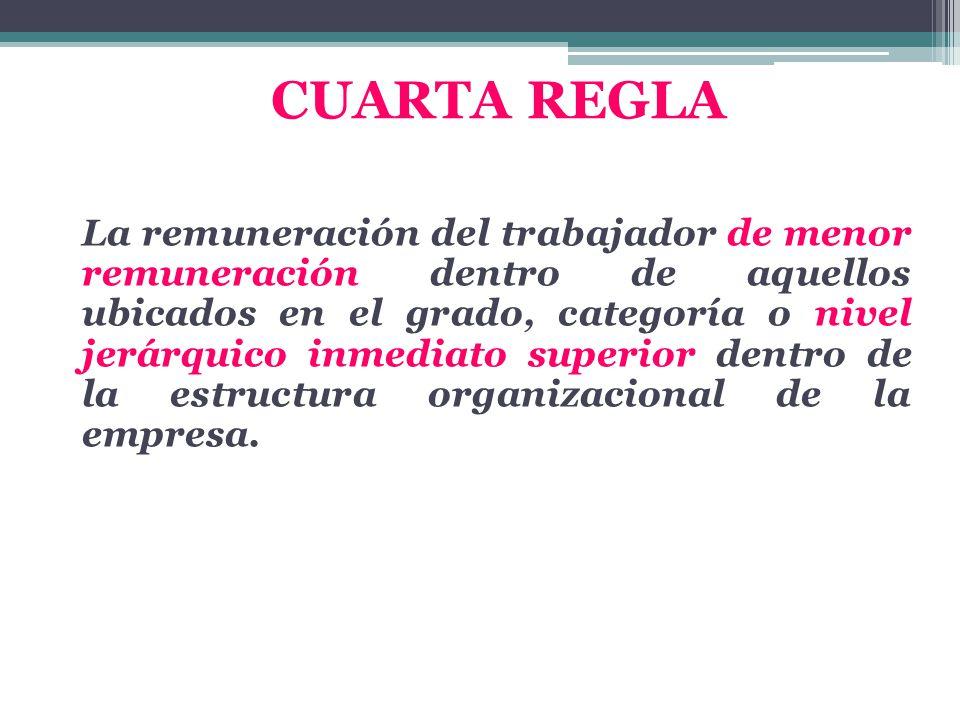 CUARTA REGLA