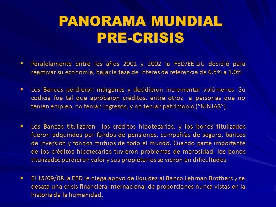 PANORAMA MUNDIAL PRE-CRISIS