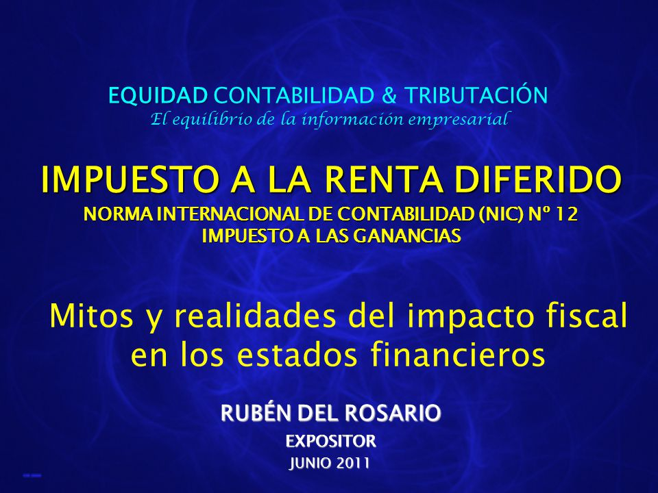 EQUIDAD CONTABILIDAD & TRIBUTACIÓN El equilibrio de la información empresarial