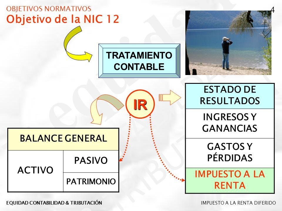 OBJETIVOS NORMATIVOS Objetivo de la NIC 12