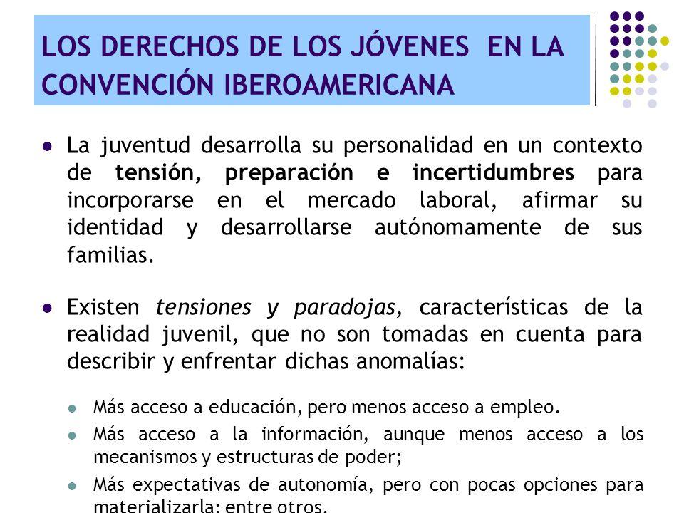 LOS DERECHOS DE LOS JÓVENES EN LA CONVENCIÓN IBEROAMERICANA