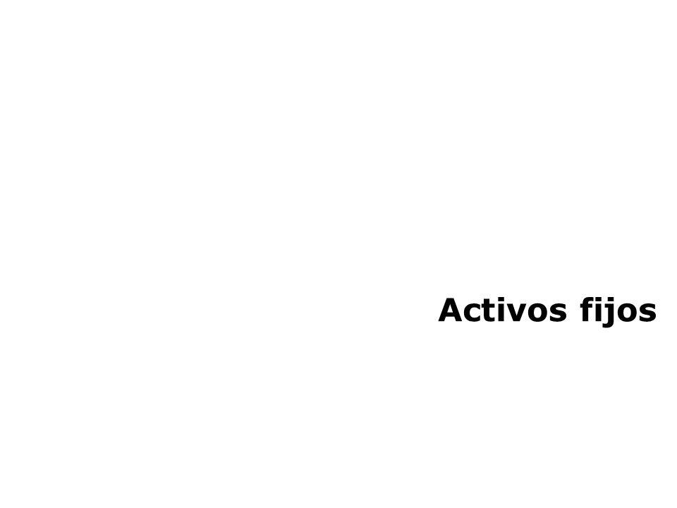 Activos fijos