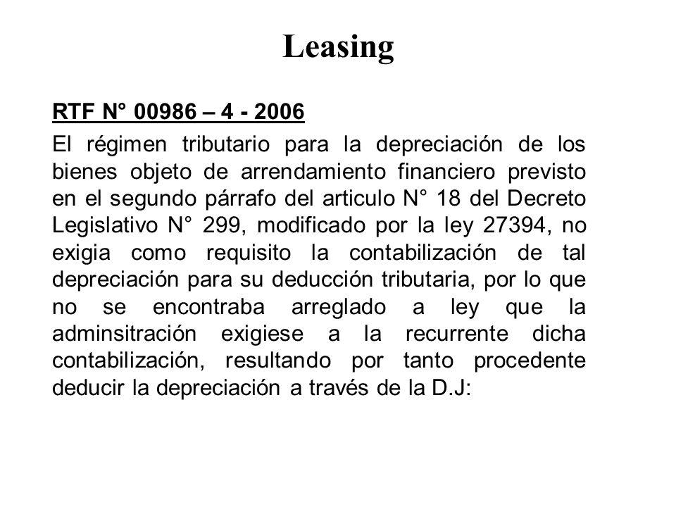 Leasing RTF N° 00986 – 4 - 2006.