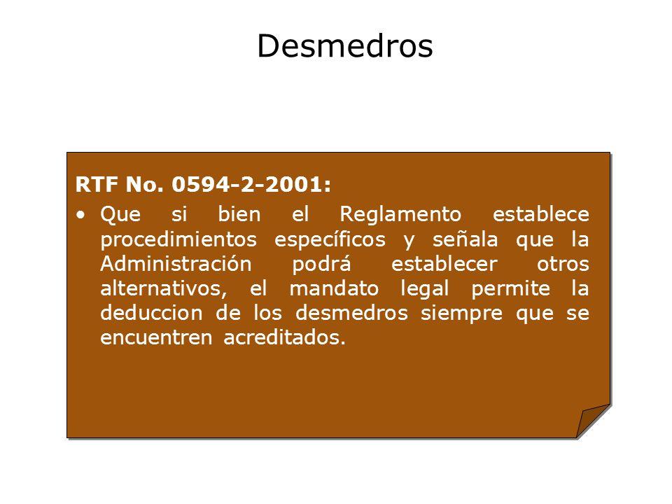 Desmedros RTF No. 0594-2-2001: