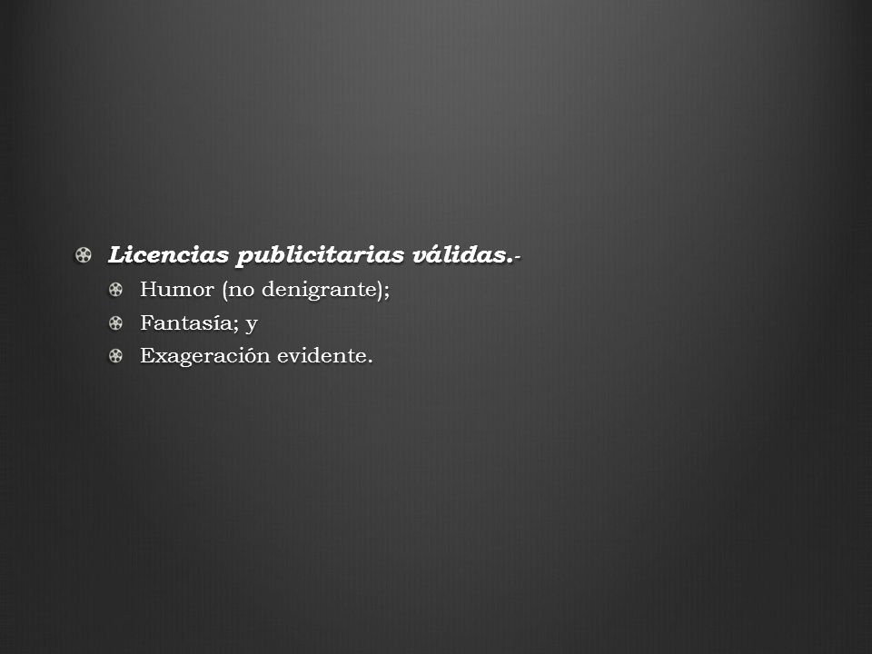 Licencias publicitarias válidas.-