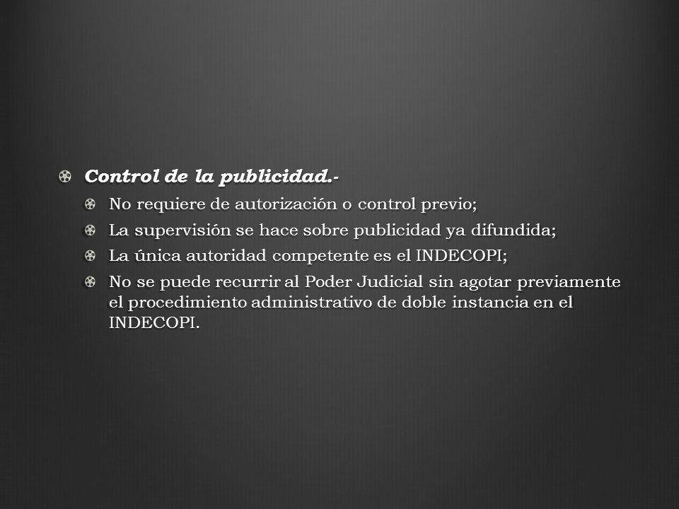 Control de la publicidad.-