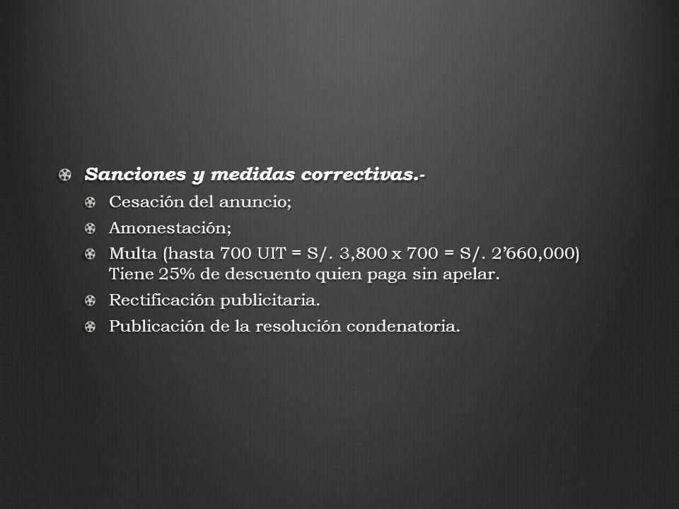 Sanciones y medidas correctivas.-
