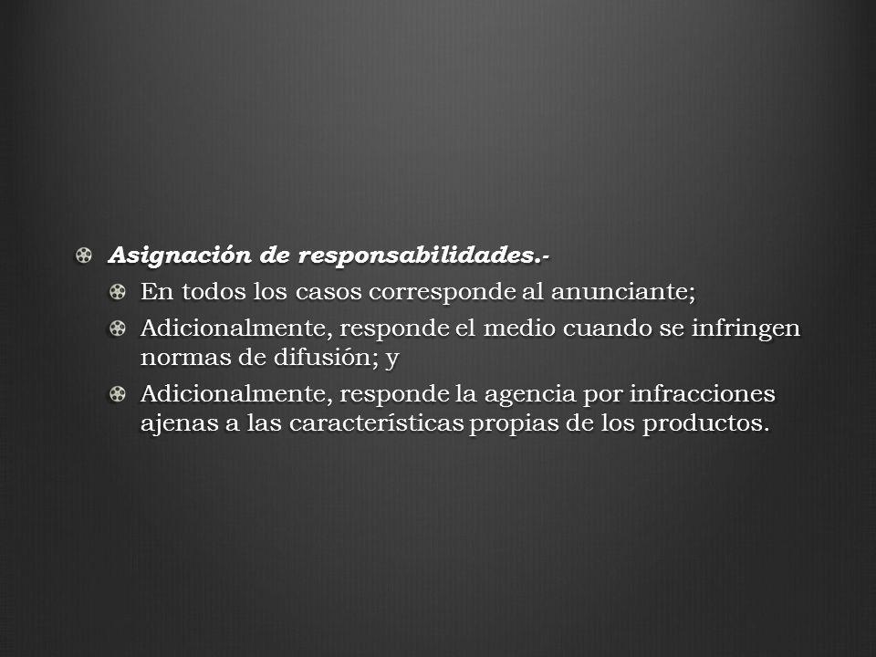 Asignación de responsabilidades.-