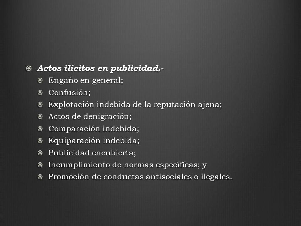Actos ilícitos en publicidad.-