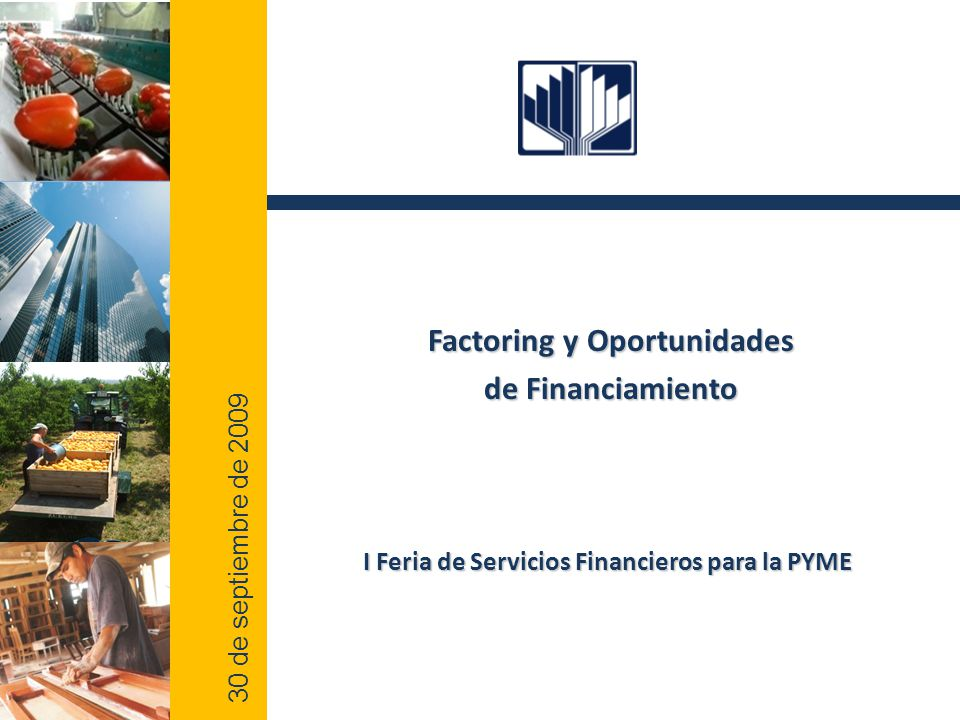2 0 0 9 Factoring y Oportunidades de Financiamiento