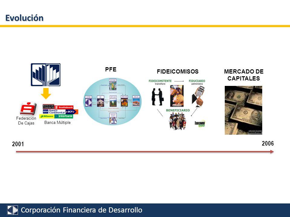 Evolución 2001 2006 PFE MERCADO DE CAPITALES FIDEICOMISOS Federación