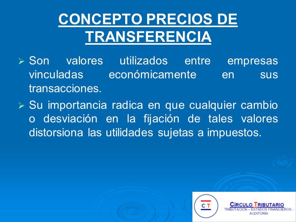 CONCEPTO PRECIOS DE TRANSFERENCIA
