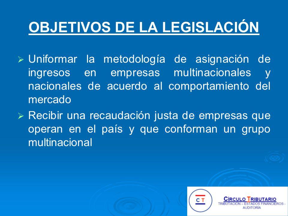 OBJETIVOS DE LA LEGISLACIÓN