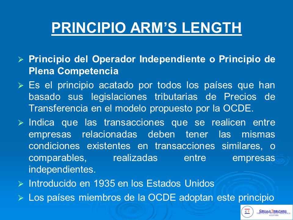 PRINCIPIO ARM'S LENGTH