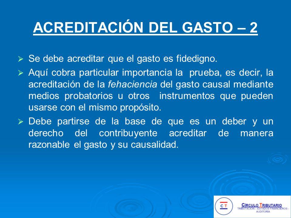 ACREDITACIÓN DEL GASTO – 2