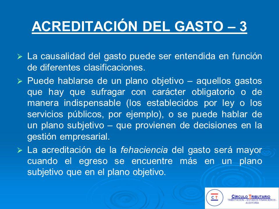 ACREDITACIÓN DEL GASTO – 3