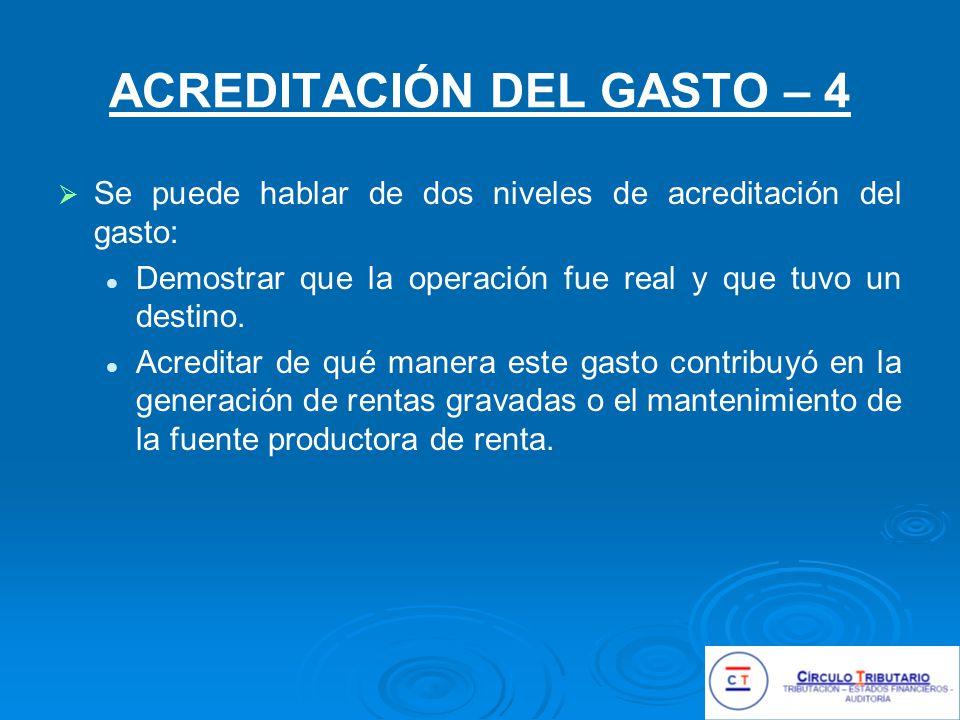 ACREDITACIÓN DEL GASTO – 4