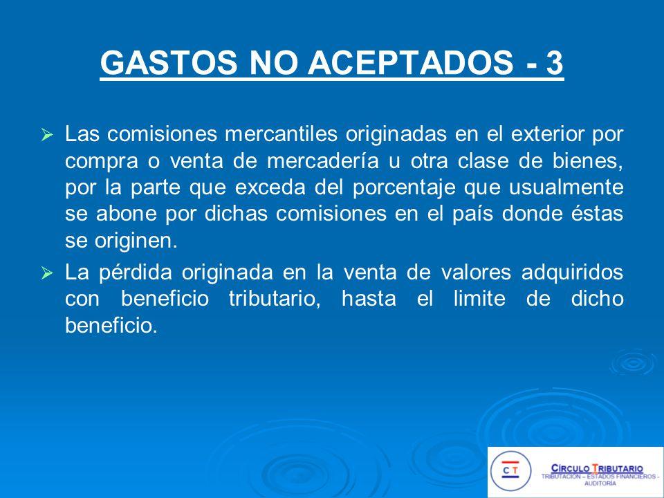 GASTOS NO ACEPTADOS - 3