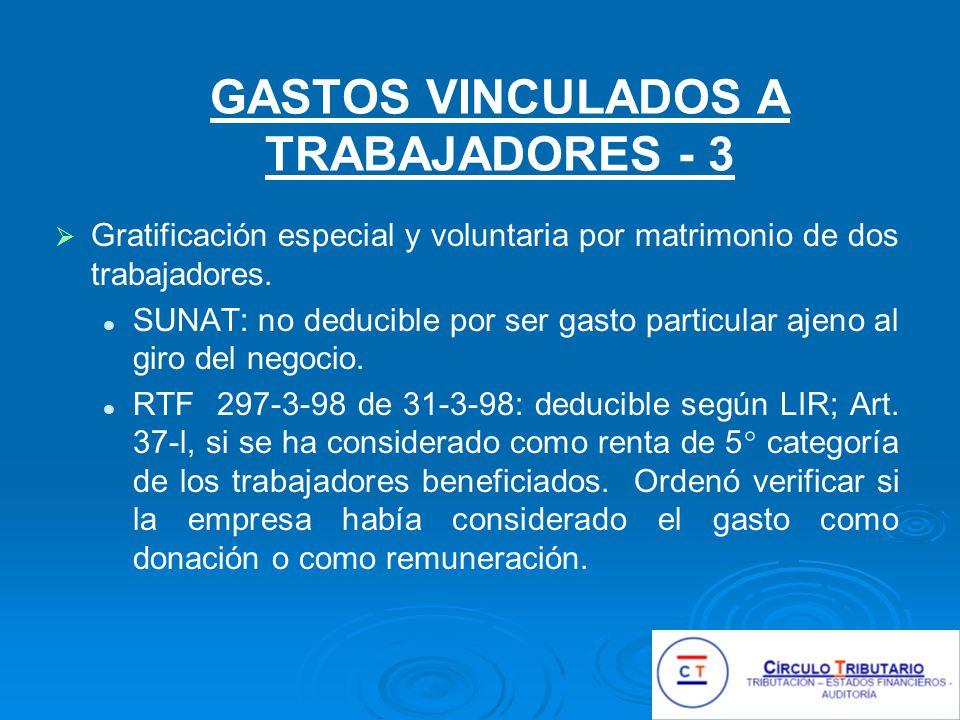 GASTOS VINCULADOS A TRABAJADORES - 3