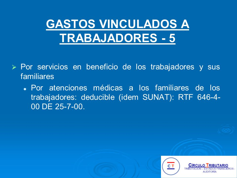 GASTOS VINCULADOS A TRABAJADORES - 5