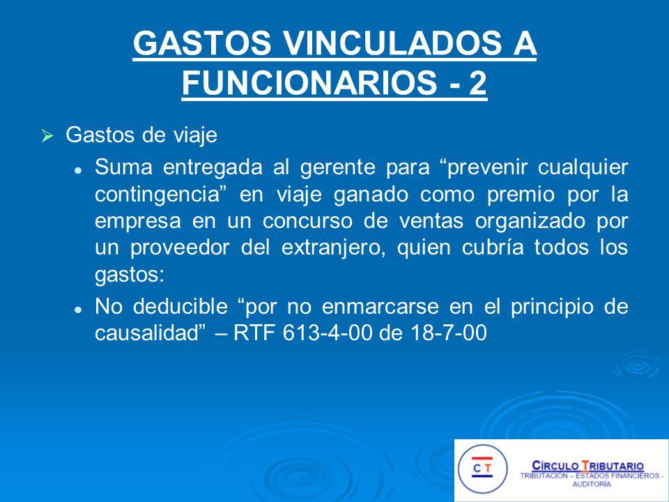 GASTOS VINCULADOS A FUNCIONARIOS - 2
