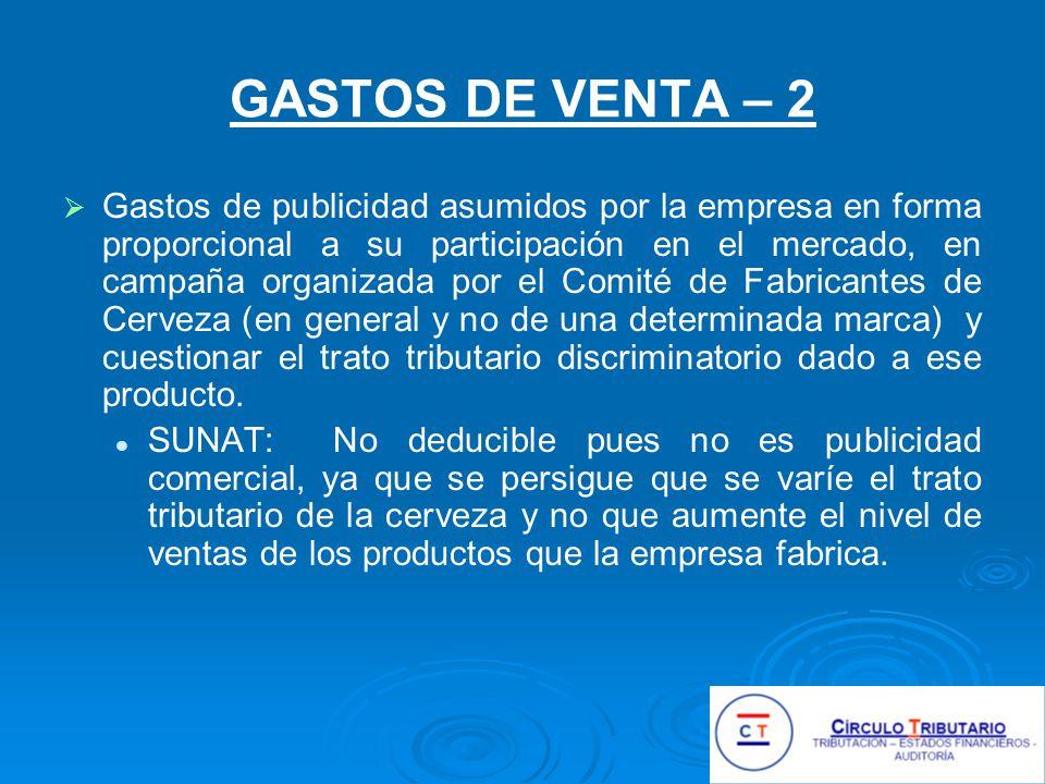 GASTOS DE VENTA – 2