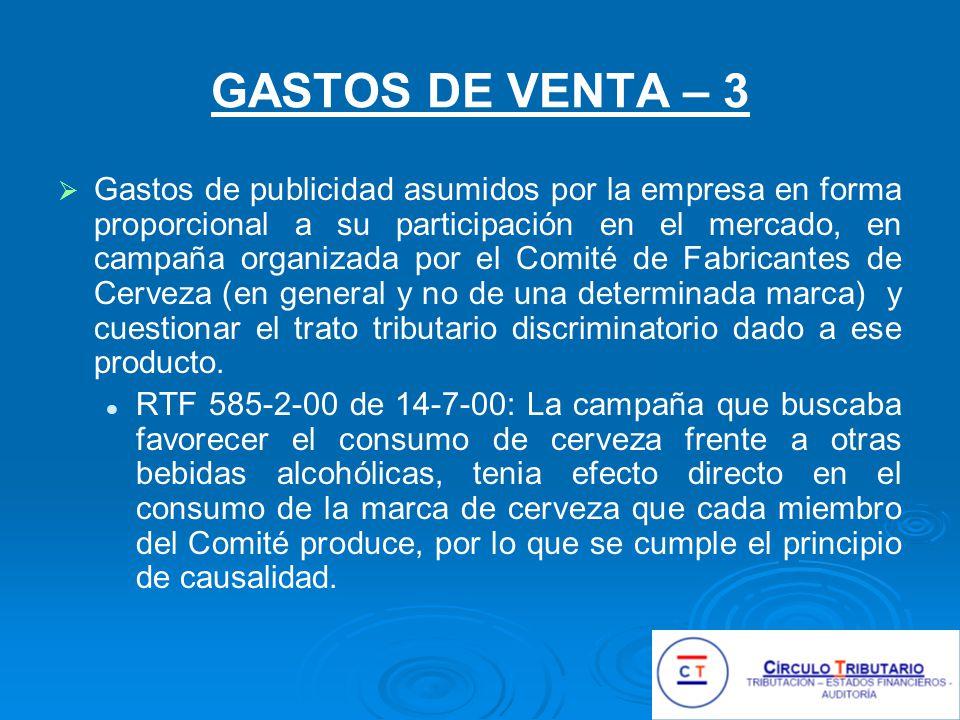 GASTOS DE VENTA – 3