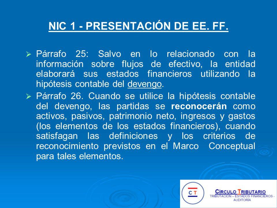 NIC 1 - PRESENTACIÓN DE EE. FF.