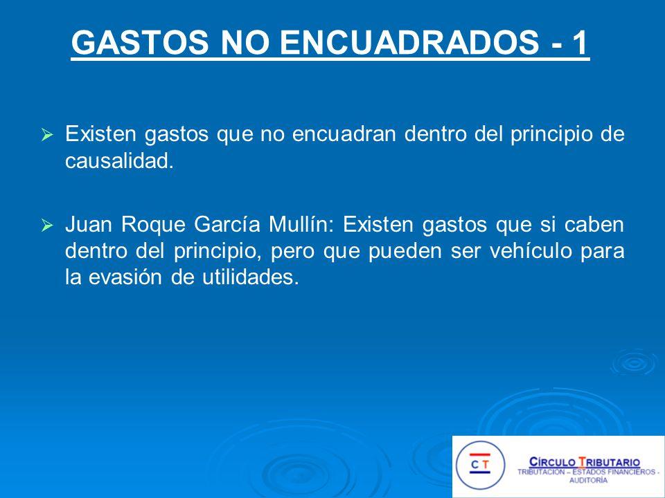 GASTOS NO ENCUADRADOS - 1
