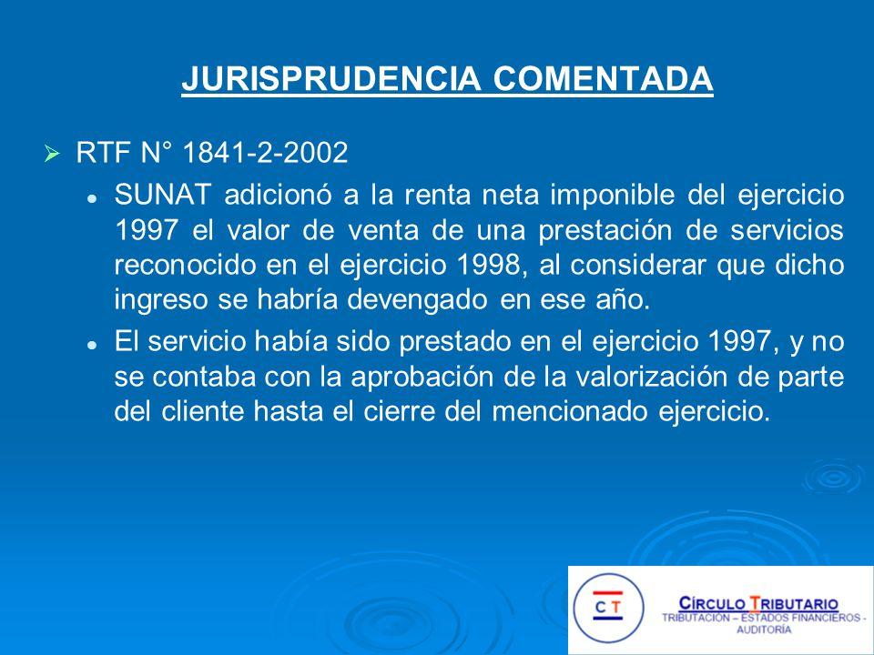 JURISPRUDENCIA COMENTADA