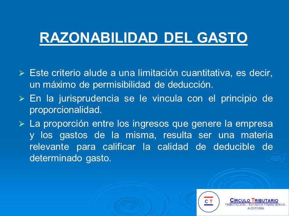 RAZONABILIDAD DEL GASTO