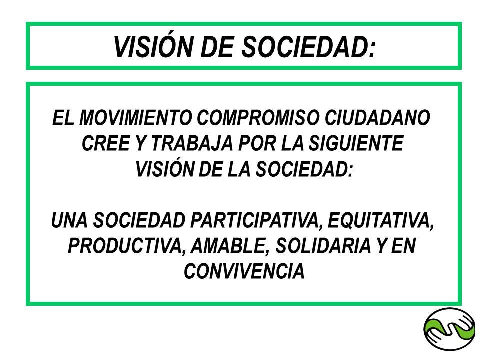 VISIÓN DE SOCIEDAD: EL MOVIMIENTO COMPROMISO CIUDADANO